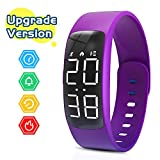 Yehtta Kids Fitness Tracker Gift for Kids Sport Electric Watch for Girls Pedometers for Walking Alarm Calorie Counter Wristband Boys & Girls Sport Bracelet Purple Fitness Activity Watch