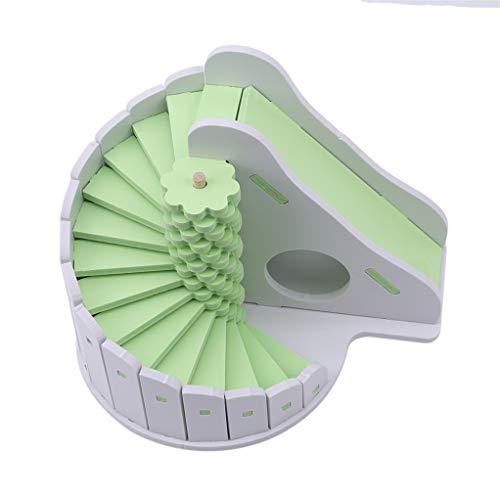 SEVENHOPE Kleintier Hamster Rutsche Spielzeug Schlafnest Farbe Kleines Haus Spielzeug Umweltfreundlich Runde Rutsche Balkon (Grün)