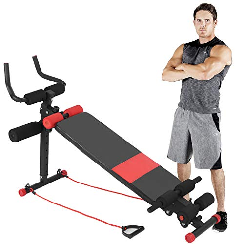 Cuoff [Ship from US] Decline Bench Adjustable Weight Bench Abdominal Trainers Push Ups Workout Beauty Waist Machine for Home Gym Perfect for Bench Press, Sit-ups, Leg Lifts, Full Body Fitness