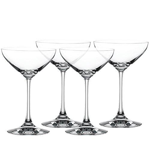 Spiegelau & Nachtmann, 4-teiliges Cocktailschalen-Set, Champagnerschale/Coupette Glas, Kristallglas, 250 ml, Special Glasses, 4710050