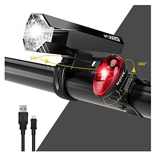 Fahrrad Licht Led Set StVZO Fahrradlicht Led Set USB,Fahrradlict Vorne Led USB Farradbeleuchtung Aufladbar Wasserdicht Fahrradlampe Mit Akku Frontlicht Und Rücklicht IP3X Staubdicht Blendschutz 40LUX