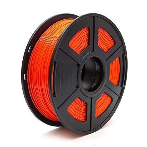 3D Printer Filament PLA 1.75mm 1kg/2.2lbs 3d plastic consumables material 3d filament USA NatureWorks PLA toughness (Color : Fluo Red) GDSZMML (Color : Red)
