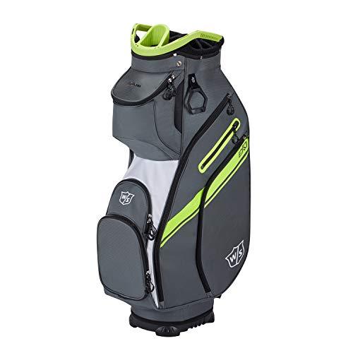 Wilson Staff Sac de Golf, EXO II, Sac Chariot, Jusqu'à 14 Clubs, Gris/Blanc/Vert Citron, 2,3 kg, WGB6650CH