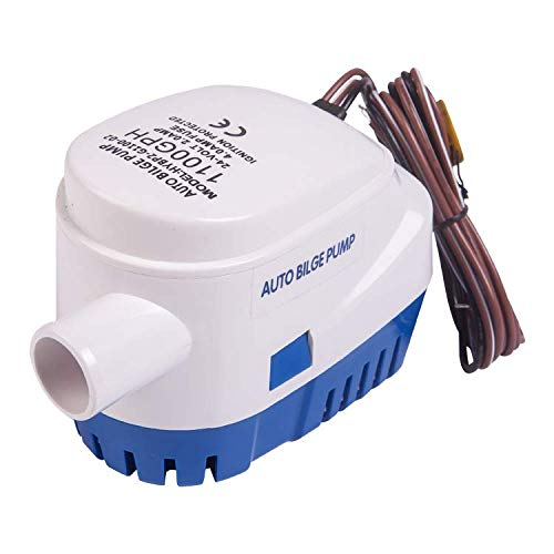 St !GIANTMAN 12V Boat Bilge Pump, Automatic Submersible Bilge Water Pump 750gph 1100gph with Float Switch(1100gph)