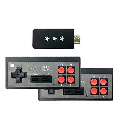 Mini Console de Jeux Vidéo Salon Retro, 4K HDMI Console de Jeu Tv Familiale avec Sortie de Contrôleur Sans Fil et 568 Jeux Classique pour Deux Joueurs