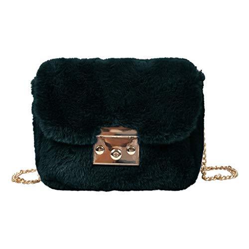 TAMALLU Frauen Einfache Umhängetasche Damen Brieftasche Reise Hochzeit Retro Handtasche(Dunkelgrün)