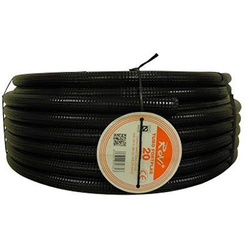 Tubo corrugado 20mm 10m【IGNIFUGO】No propagador de llamas • Tubos corrugados flexibles para cables electricidad • 10 metros • PVC de Calidad