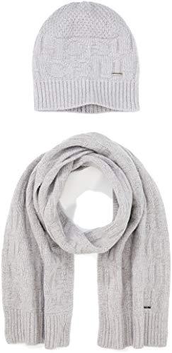 HUGO Herren Zantas set Schal, Grau (Medium Grey 032), One Size (Herstellergröße: STÜCK)