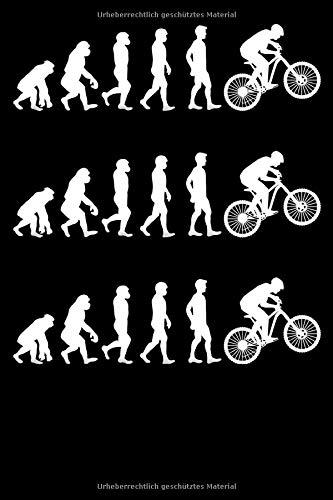 Evolution Downhill Notizbuch: DIN A5 Kariert 120 Seiten Fahrrad MTB Entwicklung Mountainbike Rennrad Downhill Radsport Bike als Geschenkidee & ... Planer Tagebuch Notizheft Notizblock