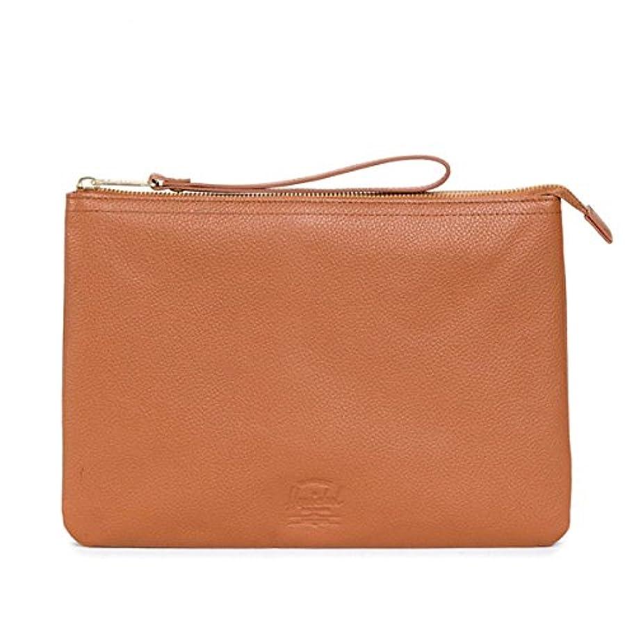 ブラシ真実に削るHerschel Supply ハーシェルサプライ Casey Clutch XL Leather / Tan Pebble Leather [10219-00034-OS]