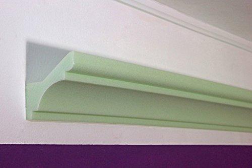 BENDU - klassieke LED stuclijst indirecte verlichting plafond - lichtspelden stucprofiel hardschuim 82x87x1180mm DBKL-82-ST