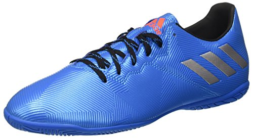 adidas Messi 16.4 IN, Botas de fútbol para Hombre, (Shock Blue/Matte Silver/Core Black), 46 EU
