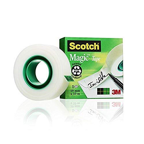 Scotch M8101933 Klebeband (1 Rolle, 19 mm x 33 m) matt/unsichtbar