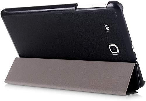 Kepuch Custer Cover per Samsung Galaxy Tab E 9.6 T560 T561 T565 T567V,PU-Pelle Case Custodia per Samsung Galaxy Tab E 9.6 T560 T561 T565 T567V - Nero