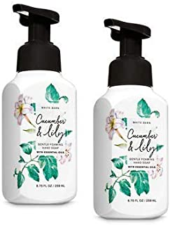 Bath and Body Works 2 Pack Cucumber and Lily Gentle Foaming Hand Soap 8.75 Oz.