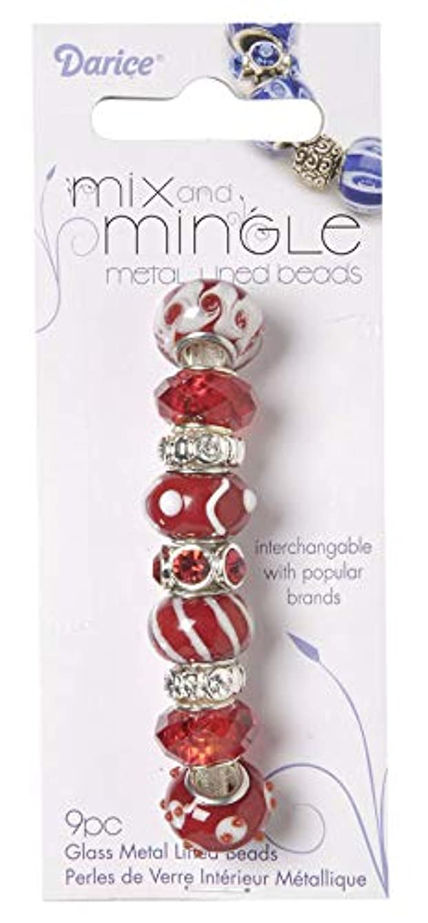 Mix and Mingle 1999-2736 Glass Beads Red/White