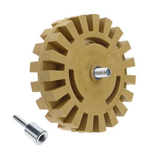 YINETTECH 4 Inch Decal Removal Rubber Gummetje Wiel Tool Pneumatische Rubber Wiel Disc Tool voor Auto Verwijderen Pinstripes Stickers