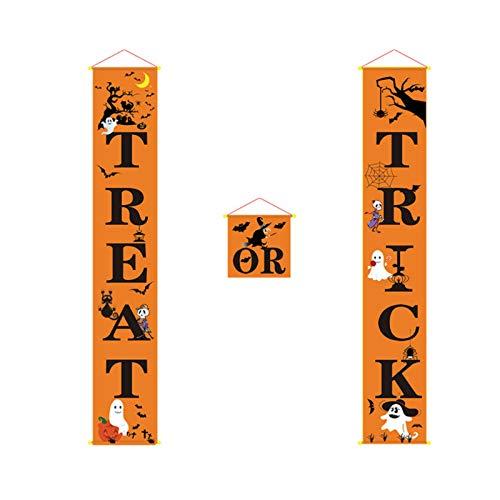@THIIN - Banner de porche de Halloween para decoración al aire libre para el hogar colgante ornamento