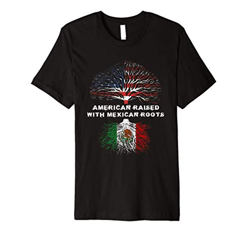 American Raised with Mexican Roots Mexico Premium T-Shirt