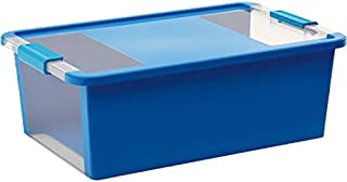 KISS Kis 8453000045401Caja BI Box, 26L, plástico, Azul/Transparente, 55x 35x 19cm