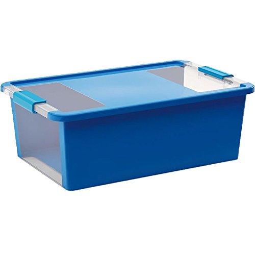 Kiss Kis Aufbewahrungsbox Bi Box 26 Liter in blau-transparent, Plastik, 55x35x19 cm