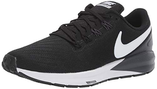 Nike Women's Air Zoom Structure 22 Running Shoe (7, Black/White/Gridiron)