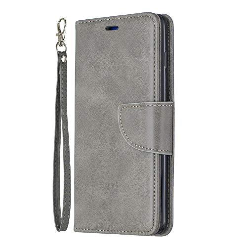 Funda tipo libro para Samsung Galaxy M32, cierre magnético, función atril, protección completa, a prueba de golpes, funda tipo libro compatible con Samsung Galaxy M32, color gris