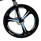 *Novokart-Plegable Esports/Bicicleta de muntanya 24 Polzades 6 Tallador, Blanco