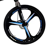 Novokart-Plegable Deportes/Bicicleta de montaña 26 Pulgadas 3 Cortador, Blanco