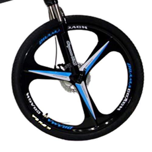 Novokart-Deportes Plegables/Bicicleta de montaña radios de Rueda de 26 Pulgadas, Amarillo