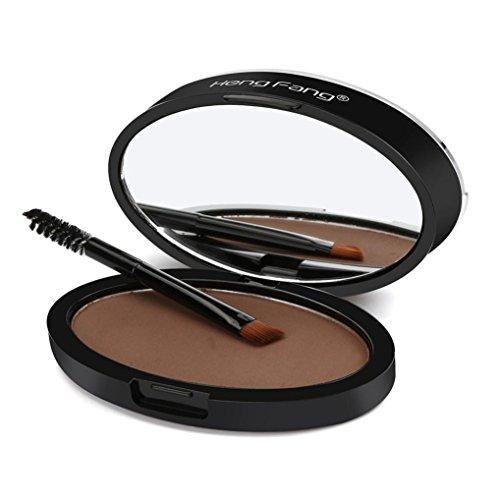 VENMO Make up Augenbrauenpuder Natürliche Augenbraue Powder Makeup Brow Stamp Palette Delicated Shadow Definition (Schwarz A)