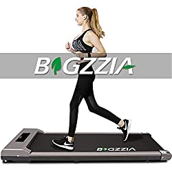 【MULTI-SPEED & LCD SCREEN】: With speeds ranging from 1 - 10 km/h, the treadmill allows you to adjust the speed by remote control according to your physical condition and your exercise needs. You could easily read some important data like Time, Speed,...