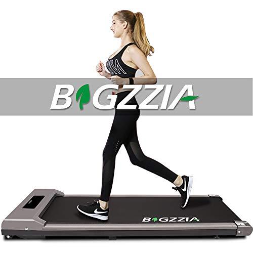 Unter Schreibtisch Laufband, Laufmaschine tragbare platzsparende Fitness motorisierte elektrische Laufband für Home Office Workout (Grau)