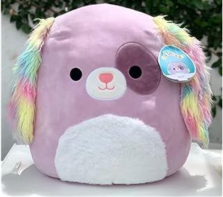 "Squishmallow 16"" Barb Puppy Dog Rainbow"