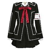 Vampire Knight Cosplay Costume Yuki Cross Black Womens Full Set Dress Uniform (Custom Made)