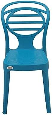 supreme Oak armless Plastic Chair, Oxford Blue, 4 pcs.