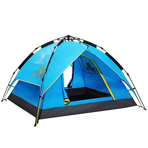 XUSHEN-HU Tiendas de campaña para camping coleman tienda de campaña de doble capa para 3 – 4 personas tienda de campaña automática a prueba de lluvia (color azul, tamaño: 210 x 200 x 130 cm)