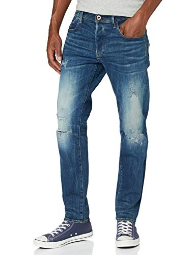 G-STAR RAW G-Bleid Slim_Jeans, Antic C051-b821-Árbol de Navidad (Acanalado), Color Azul, 33W...
