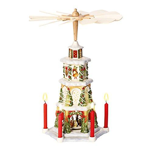 Villeroy & Boch Christmas Toys Memory Weihnachtspyramide, Porzellan, Weiß/Rot