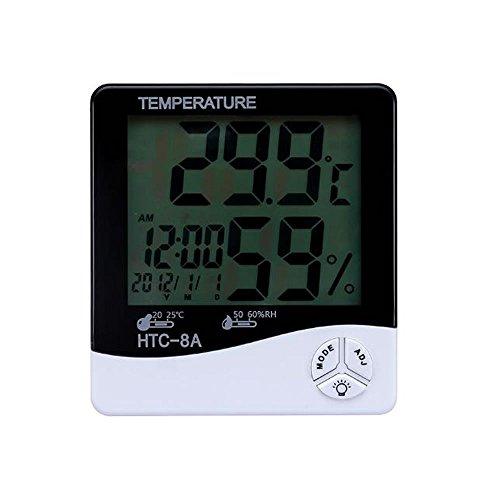 1stモール デジタル 温湿度計 バックライト 卓上 マルチ 温度計 湿度計 時計 目覚まし アラーム カレンダー 大画面 ST-SIXNIGHT