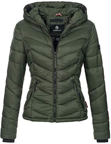 Marikoo Damen Jacke Stepp leichte Herbst Winter Übergangsjacke XS-XXL B403 (XL, Olive)
