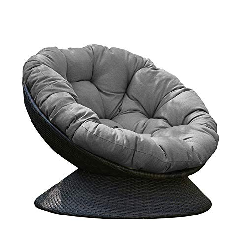 DLPY Papasansessel Stuhl Auflage,verdicken Sie Runde Hängen Ei Hängematte Stuhlkissen Dekoration Atmungsaktive Ohne Stuhl-grau Durchmesser110cm(43inch)