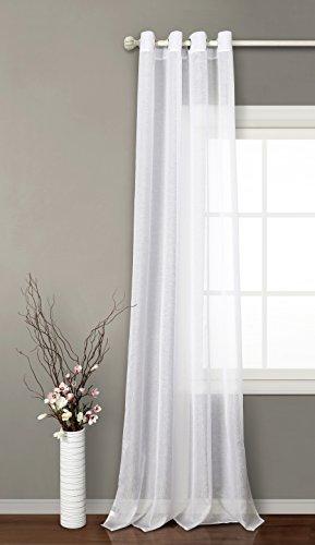 PimpamTex | Modelo Clara | Cortina translúcida para salón Dormitorio y habitación | con 8 ollaos | 140 x 260 cm |
