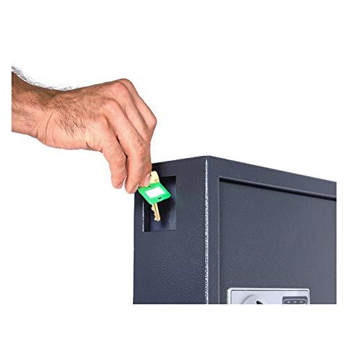 DuraBox 40 Keys Steel Safe Cabinet with Digital Lock - Electronic Key Safe with Drop Slot for Key Returns and Safe Storage (Dark Grey) Photo #3