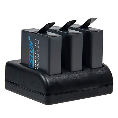 BESTON Goproバッテリー 3個/3ポートUSB充電器 セット GoPro HERO7/6/5/Black対応 充電式バッテリー GoPro ウェアラブルカメラ用バッテリー Gopro互換バッテリー バッテリーチャージャー GoPro リチウムイオンバッテリー ゴープロアクセサリー