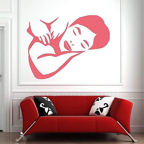 Tianpengyuanshuai massage wandtattoos spa muursticker schoonheidssalon muurtattoos vrouw gezicht muursticker stijl