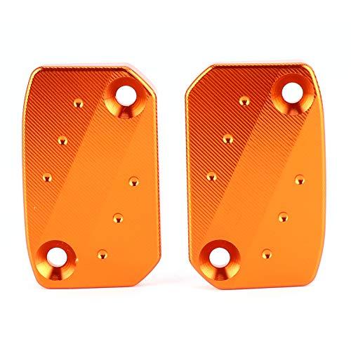 aqxreight - Tapa del depósito de líquido de frenos, cubierta de la tapa del depósito de líquido de frenos CNC de aleación de aluminio apta para 250/350 XC 450 SX/SX-F/SX-R(naranja)