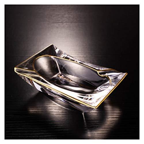 JINGER Titular de Ceniza Crystal Ashtray Glass Tabletop Ash Bandeja Creativa Personalidad Portátil Portátil Fumar Ash Bandeja para El Hogar Cenicero Duradero y Hermoso. (Color : Clear Phnom Pe