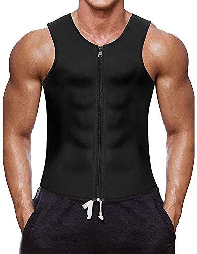 Iwinna Men Waist Trainer Vest Weight Loss Hot Neoprene Corset Compression Sweat Body Shaper Slimming Sauna Tank Top Workout Shirt