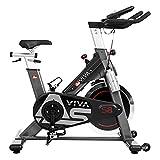 AsVIVA Indoor Cycle S8 Pro, Speed-Bike mit Bluetooth App Kontrolle, Fitnessbike, Heimtrainer (inkl....